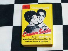 クリームソーダ シガレットケース CREAM SODA ロカビリー ブラックキャッツ タバコケース BLACK CATS MAGIC 当時物_画像1