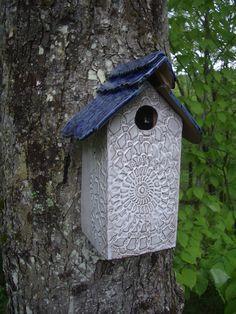 www.abbydreyer.com     ceramic birdhouse by abby dreyer SOLD