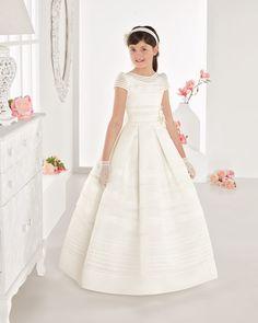 2017 branco Marfim floristas vestidos uma linha até o chão