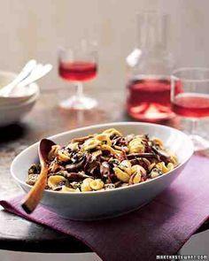 Orecchiette with Mushrooms, Radicchio, and Gorgonzola