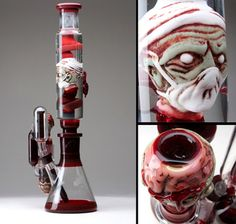 Zombie bong.. I'm so not a drug user or ever want to be.. but this does look pretty cool. But I'll pass on the drugs >~