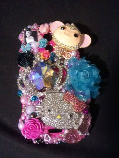 deposit for Made to order custom 3d bling phone case for Samsung Epic Galaxy  (you pick what you like and want ) read description. $15.00, via Etsy.