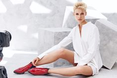 one concept RED Collection is here! Perfect Blonde, Fashion Images, Hair Color, Collections, Concept, Coat, Red, Jackets, Beauty