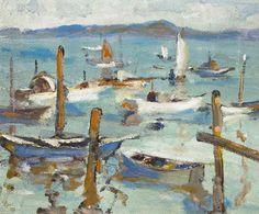 Selden Gile Moored Boats