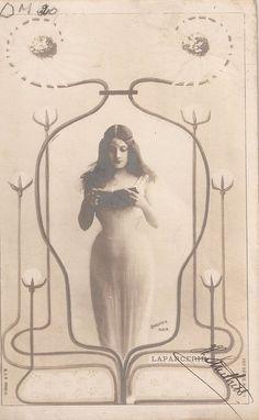 Vintage Art Nouveau Postcard