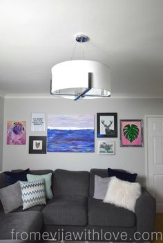 """Living Room Makeover on a Budget - From """"Dated Look"""" to Fresh and Modern - From Evija with Love  - gallery wall DIY"""