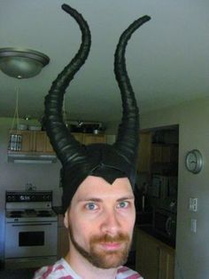 I am getting an early start on my partner's Halloween costume this year (and I've got a thing for horns, these aren't quite impala horns but they draw...