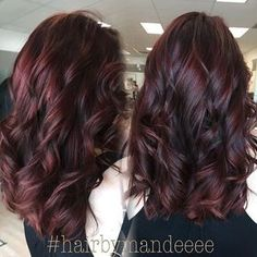 10 Stylish Hair Color Ideas Ombre and Balayage Hair Styles Curly Hairstyles for Medium, Long Hair – Burgundy Brown Hair Color Burgundy Brown Hair Color, Burgundy Balayage, Red Violet Hair, Hair Color Balayage, Burgundy Curly Hair, Ombre Hair, Red Ombre, Hair Dye, Aubergine Hair Color