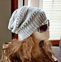 CROCHET PATTERN-Everly Slouch Hat Crochet hat by CassJamesDesigns