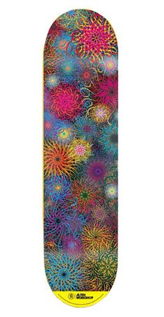 Ryan Mcginess Floral skate deck avail on etsy