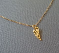 Tiny Wing Gold Necklace by louun on Etsy, $30.00