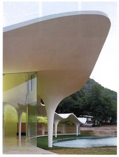 Toyo Ito Crematorium - cast in place concrete