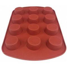 Forma de Silicone - Muffins e Cupcakes - 12 Cavidades