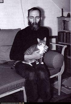 Edward Gorey and friend