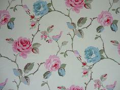 Clarke and Clarke Studio G Rosetta in Aqua  Curtain Upholstery Craft Fabric