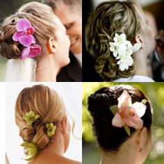 pictures of wedding updos with flowers in it | Wedding Ideas : Wedding Hairstyle Idea: Just Add Flowers