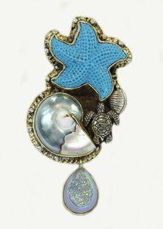 Amy Kahn Russell Caribbean Treasure Pin-Pendant
