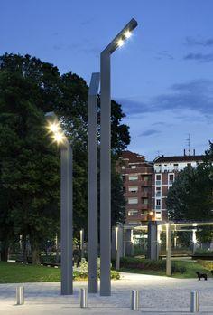 Topa XL #outdoor #lamp by B.lux. Custom made #lighting #project. Amorebieta-Etxano (Spain).