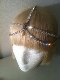 1920s Diamante Juliet Antique Bridal Headpiece-Art Deco Wedding Bride Crystal Headdress-Art Nouveau The Great Gatsby.