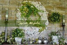 Spring Mantel - Surroundings by Debi