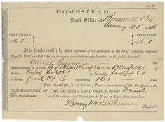 How the Homestead Act Transformed America Compare documents filed by the first and last homesteaders in the United States # homestead act lesson Document Deep Dive: How the Homestead Act Transformed America Social Studies Notebook, Teaching Social Studies, Registry Of Deeds, Find My Ancestors, Homestead Act, Legal Questions, Gardens Of The World, American History Lessons, Bureau Of Land Management
