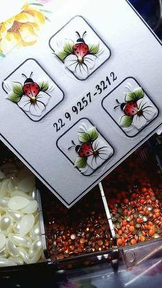 Toe Nail Designs, Toe Nails, Ladybug, Nail Art, Nail Stickers, Nail Art Designs, White Nail Beds, Painted Flowers, Drawings Of Girls