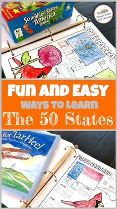 Fun and Simple Ways to Learn the 50 US States - peanut butter fish lessons Geography For Kids, Geography Activities, Geography Lessons, Educational Activities, Teaching Geography Elementary, Fun Activities, History Education, Teaching History, States And Capitals