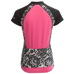 Canari Lazise Print Cycling Jersey - Short Sleeve (For Women) in Cotton Candy