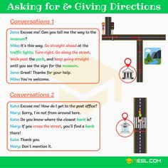 Asking for and Giving Directions | English Conversations - 7 E S L