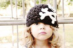 Punk Princess Skully Beanie  Crochet by PartTimeDiva on Etsy, $18.00