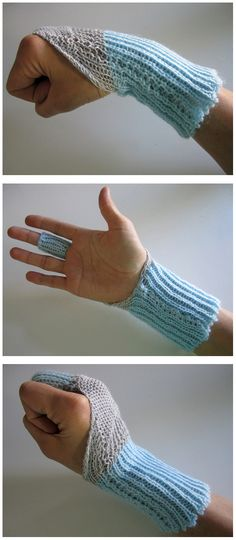 Knithacked Wrist Sensors! Made with resistive yarn to detect movement and angles of the wrist. Read all about it over at How To Get What You Want (there's even a video!).