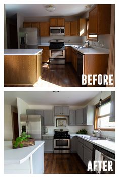 Affordable Kitchen Updates in a Weekend - Bright Green Door Interior Modern, Home Interior, Interior Design Kitchen, Home Design, Kitchen Designs, Design Ideas, Kitchen Paint, Kitchen Redo, New Kitchen
