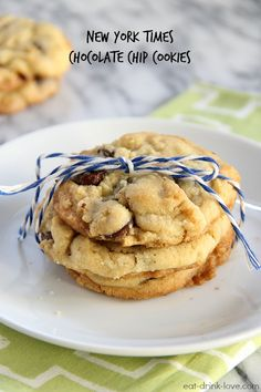The New York Times Chocolate Chip Cookies- These are seriously the best and I sub in dark chocolate chips instead