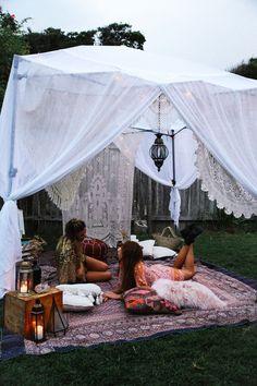 ideas for festival camping diy Diy Party Tent, Diy Tent, Teepee Tent, Festival Camping, Camping Diy, Camping Gazebo, Home Decoracion, Outdoor Living, Outdoor Decor