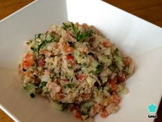 Receita de Salada com trigo de kibe e atum