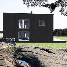 Sunhouse Q1. Architect: Jarkko Könönen. @sunhousetalot Garage Doors, Outdoor Decor, Plants, House, Home Decor, Homemade Home Decor, Haus, Plant, Interior Design