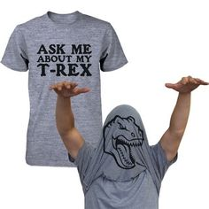 Ask Me About My T-Rex Shirt Funny Flip Up Dinosaur Tee Halloween Unisex T-shirt Funny Shirt | Overstock.com Shopping - The Best Deals on Casual Shirts