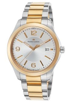 Men watches Watches best price Men's Miros Stainless Steel and Gold Plated SS Silver-Tone Dial
