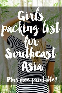 Girls Packing List for Southeast Asia
