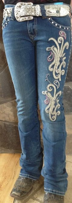 Trinity Ranch Paisley with Pink Jeans
