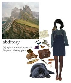 """let's get lost in the mountains"" by coffee-and-jazz ❤ liked on Polyvore featuring Pretty Polly, Sissa, Red Wing, Moleskine, Parker and vintage"