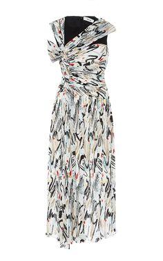 Adeam Combo Print Open Shoulder Dress  1,300 Robe Mousseline, Robe  D épaule, Corsage e608775de68d