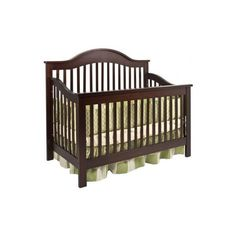 Jayden Baby Crib Set in Espresso ($280) ❤ liked on Polyvore