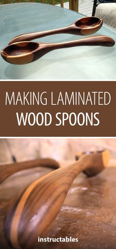 Making Laminated Wood Spoons #woodworking #kitchen