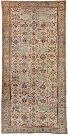 Sultanabad carpet  Central Persia  circa 1900  size approximately 9ft. 8in. x 19ft. 7in.