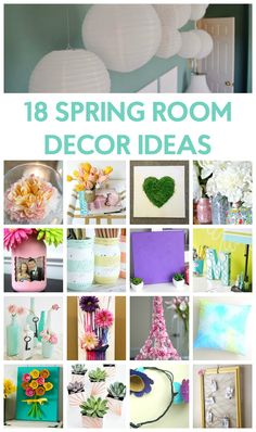 For me it means bright colors, warmer weather, and the growing anticipation of summer. This sounds like a great reason to decorate your room, right? Since it is almost spring, I thought I would round up 18 Spring Room Decor Ideas for you.