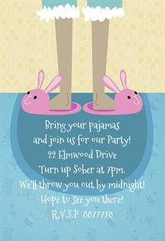 Bring Your Pajamas - Free Printable Birthday Invitation Template   Greetings Island Spa Birthday Parties, Sleepover Party, Pajama Party, Slumber Parties, Free Birthday Invitation Templates, Printable Invitations, Party Printables, Party Invitations, Pancakes And Pajamas