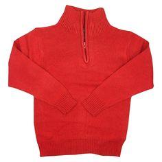 Eddie Bauer Boys' Half Zip Sweater 4 - Red, Boy's