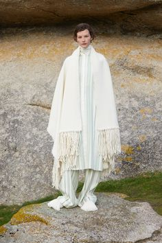 Jil Sander Looks to the Great Outdoors With New Jil Sander+ Line: Launching with a Mackintosh collaboration and a new denim collection. Unisex Fashion, Mens Fashion, Style Fashion, Silk Pajamas, Jil Sander, Night Gown, Fashion News, Designer Dresses, Knitwear