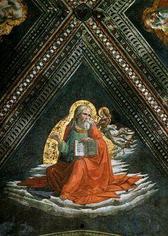 Domenico Ghirlandaio - volta - San Matteo - affresco - 1486-90 - Cappella Tornabuoni - Basilica di Santa Maria Novella, Firenze